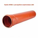 Труба Канализационная Наружная Солекс 200 - 1.0м (НПВХ)