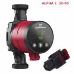 НасосGrundfos ALPHA 2  32-80 самый экономичный, Ночной режим, Авторегулировка по потребности. Потребление от 3-50 Вт. Рабочее давл.- max 10 bar., t* жидкости от +2 до +110*. Напор - 8м. Maкс. подача - 3.8 куб.метра. Производитель Дания