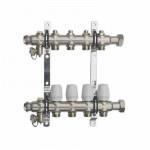 Коллекторный Блок TST с Регулир. Клапанами - 4 выхода Нержавеющая сталь - 1 х 3/4