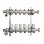 Коллекторный Блок TST с Регулир. Клапанами - 6 выходов Нержавеющая сталь - 1 х 3/4