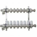 Коллекторный Блок TST с Регулир. Клапанами - 7 выходов Нержавеющая сталь - 1 х 3/4