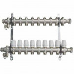 Коллекторный Блок TST с Регулир. Клапанами - 9 выходов Нержавеющая сталь - 1 х 3/4