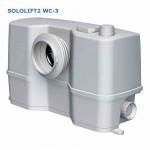 Насосная Установка Канализ-ая Grundfos SOLOLIFT2 WC-3 Подключение : унитаз - писсуар - раковина - биде или  душевая кабина. Tmax-50*C, 0,62кВт, 1х220Вт.