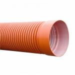 Труба 2-ух слойная 6 метров Политэк с раструбом - 368/315+кольцо