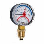 Термоманометр ЭКОМЕРА МД04-63 низкая ножка + 120° / 10 кгс соединение Радиальное, резьба трубная 1/2