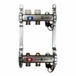 Коллекторный Блок STOUT без расходомеров на - 2 выхода Нержавеющая сталь - 1